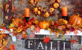 Autumn Home Decor Fall Decorations For Fireplace Mantel Home Decorating Interior