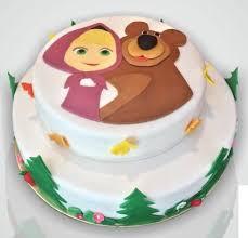 masha bear love bears cake
