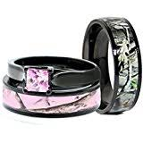 camo wedding band sets camo wedding rings set his and hers 3 rings set sterling silver
