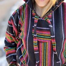 baja threads mexican baja hoodies drug rug poncho pullovers