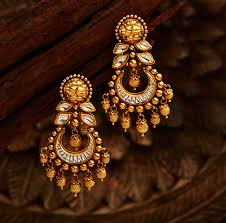 gold earrings for marriage khazana jewellery models designs online shopping catalogue