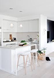 Black White Kitchen Island Interior black white and wood kitchens countertop and breakfast bars