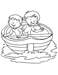 boy boat coloring download free boy boat