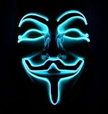 cool masks neon masks anonymous blue cool mania