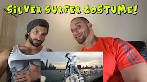 epic silver surfer halloween costume nyc reaction youtube