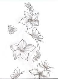 flower with butterfly drawing at getdrawings com free for personal
