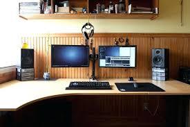 Dual Monitor Computer Desks Dual Monitor Desks Mega S Dual Monitor Corner Computer Desk