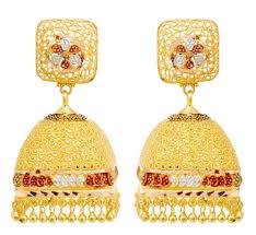 gold earrings in shape square shape gold earrings gold gold jewellery grt jewellers