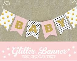 baby shower banners princess baby shower banner pink and gold banner