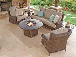 Patio Furniture Sets With Fire Pit by Unique Wooden Deep Seating Outdoor Furniture All Home Decorations