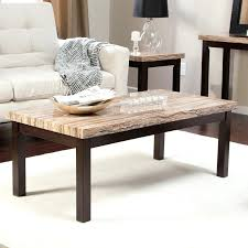 Rustic Side Table Coffe Table Faux Marble Piece Coffee And End Table Set Multiple