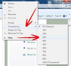 Windows 7 Top Bar How To Enable Full Transparency In Windows 7 Using Power Menu