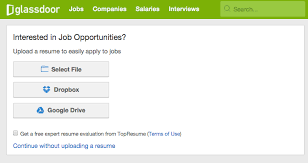 Post Resume Online For Employers by 5 Online Resume Tools You Need To Try Glassdoor Blog