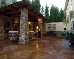 Concrete Backyard Ideas Take A Look At This Patio Concrete Stain Solcrete Com Home