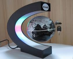 zuwit floating globe with led lights magnetic field levitation