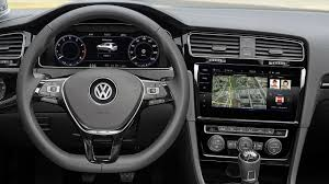 volkswagen inside 2017 volkswagen golf mk7 facelift interior youtube