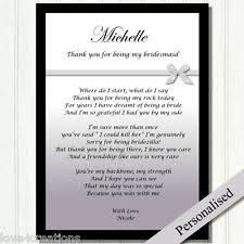 bridesmaid poems to ask bridesmaid poem home furniture diy ebay