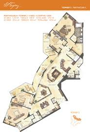 Penthouse Floor Plan by St Tropez Lanai Residence Floorplans