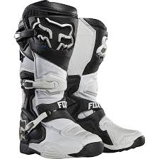 motocross fox fox comp 8 motocross boots white uk12 only 1stmx co uk