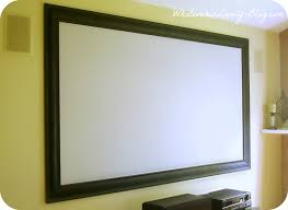 retractable home theater screen framed projector screen home theater projector diy pinterest