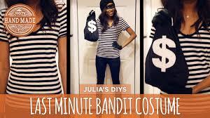 diy last minute bandit costume hgtv handmade youtube