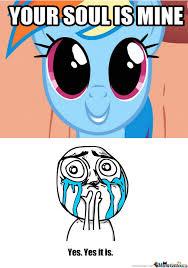 Rainbow Dash Meme - rainbow dash soul drain by miados meme center