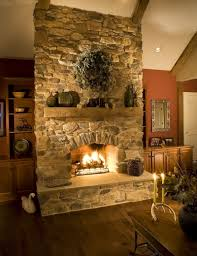 river rock fireplace makeover home design ideas