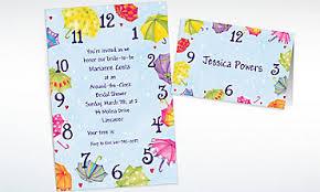 around the clock bridal shower bridal shower invitations thank you notes invitation kits