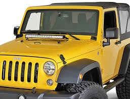 jeep jk hood led light bar quadratec hi performance 26 led combo light bar with wiring harness
