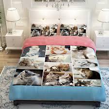 Eeyore Duvet Set Aliexpress Com Buy 3d Oil Cute Cats Bedding Duvet 3 4pc Duvet