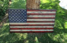 How To Display American Flag On Wall Distressed American Flag Distressed Wood Usa Rustic Wall