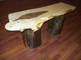 Wood Stump Coffee Table Slab Coffee Table In Beautiful Decoration