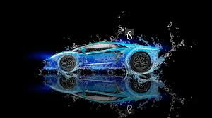 Lamborghini Aventador Background - lamborghini aventador water fantasy neon blue el tony cars tony
