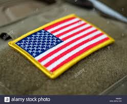 State Flag Velcro Patches Usa Flag Patch On Military Bulletproof Vest Shallow Depth Of