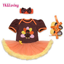 2018 wholesale newborn thanksgiving baby clothes orange