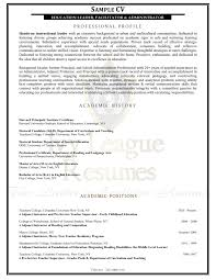 Sample Cv Resume by Ivy League Resumes Linkedin Profile Development