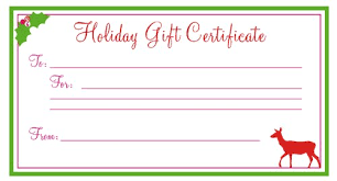 holiday gift certificate template free printable printable in