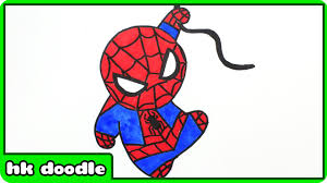 how to draw spiderman easy spider man drawing for kids step by