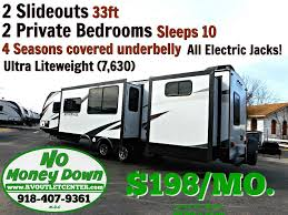 double queen travel trailer trailers with two master bedrooms bh