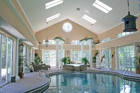 Home Stones Decoration Deco Interior Splendid Spacious White Cream Indoor Pool Decoration