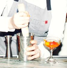 peach rum u0026 saffron shrub cocktail recipe coveteur