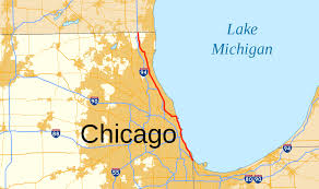 Blue Line Chicago Map by U S Route 41 In Illinois Wikipedia