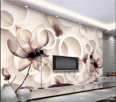 living room mural magnolia flower tv background wallpaper 3d living room murals wall