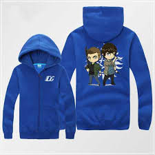 cheap supernatural zip hoodie cartoon dean and sam winchester
