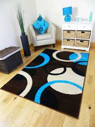 Large Modern Rug by Medium Xx Large Modern Black Turquoise Teal Brown Cream Soft Pile