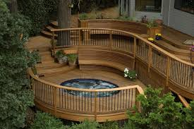 level backyard deck ideas tiered deck is great for entertaining or