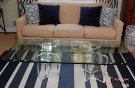 home design brushed nickel u0026 glass coffee table u2013 donald