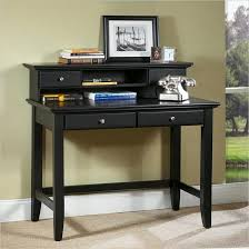 Small Desk With Drawer Furniture Black Writing Desks For Small Spaces With Hutch And
