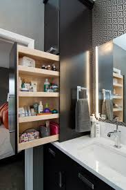 Bathroom Vanity Pull Out Shelves by Small Space Bathroom Storage Ideas Diy Network Blog Made