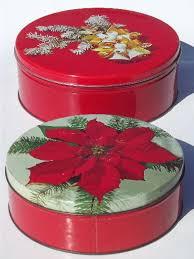 christmas tins of vintage tins christmas litho print candy tins cookie tins